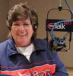 Katie on the MyTalk 107.1